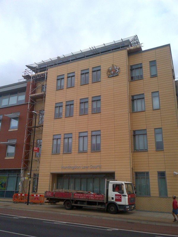 X-Beam Scaffolding at Huntingdon Law Courts