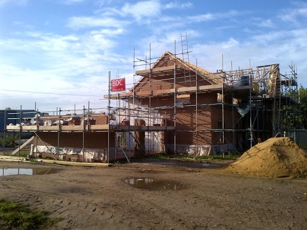 Using Ancient Scaffolding Methods in Watton, Norfolk